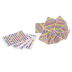 20-Pieces-Reward-Stickers-Childrens-Kids-Teacher-School-Sticker-Heart-amp-Star
