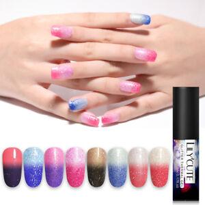 LILYCUTE-Soak-Off-UV-Gel-Thermal-Glitter-Color-Changing-Nail-Art-Gel-Polish
