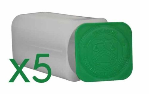 5 Genuine Official US Mint Square Coin Tubes For American Silver Eagle Oz Coins