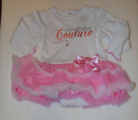 Baby Glam Girls Infants 1 Piece Outfit With Tutu Size 9m Nwtcheerleader Couture