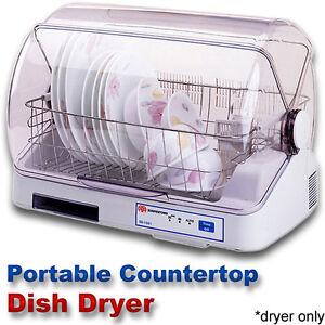Compact Countertop Dish Dryer, Portable Tabletop Small Apartment Mini ...