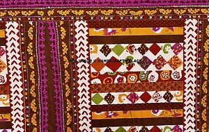 44-034-Wide-Brown-Dressmaking-Cotton-Floral-Printed-Crafts-Fabric-Boho-By-The-Metre
