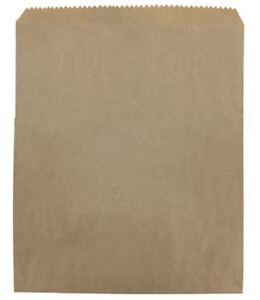 500 7 x 9 Brown Kraft Strung Sweet Food Fruit Veg Market Stall Paper Bags Material Handling Packing & Shipping Bags