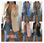Women-Slim-Casual-Blazer-Jacket-Top-Outwear-Long-Sleeve-Career-Formal-Long-Coat thumbnail 3