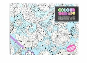 PMS Adult Colouring Therapy Book with Half Coloured Pages - 21 x ...