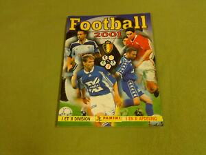 PANINI-STICKER-COLLECTION-ALBUM-NOT-COMPLETE-FOOTBALL-2001-BELGIUM-I-amp-II-DIV