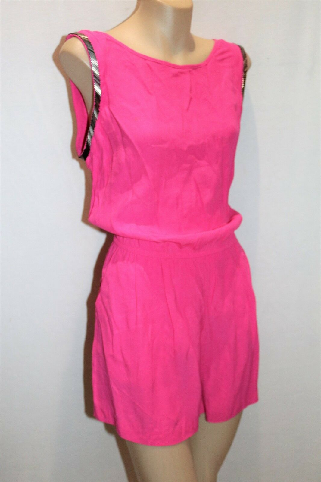 SEDUCE Brand Pink Rumba Sleeveless Playsuit Size 10 BNWT  TL45