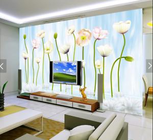 3D Flowers 4065 Wallpaper Murals Wall Print Wallpaper Mural AJ WALL UK Carly