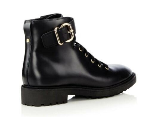 pelle Biker Jasper J in Conran nera Boots By 'jace' Womens Misura Uk 4 x6SnqZn