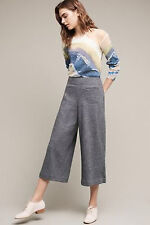 NWT Anthropologie by Elevenses Boucle Side Zip Cropped Wide Leg Pants 16 NEW
