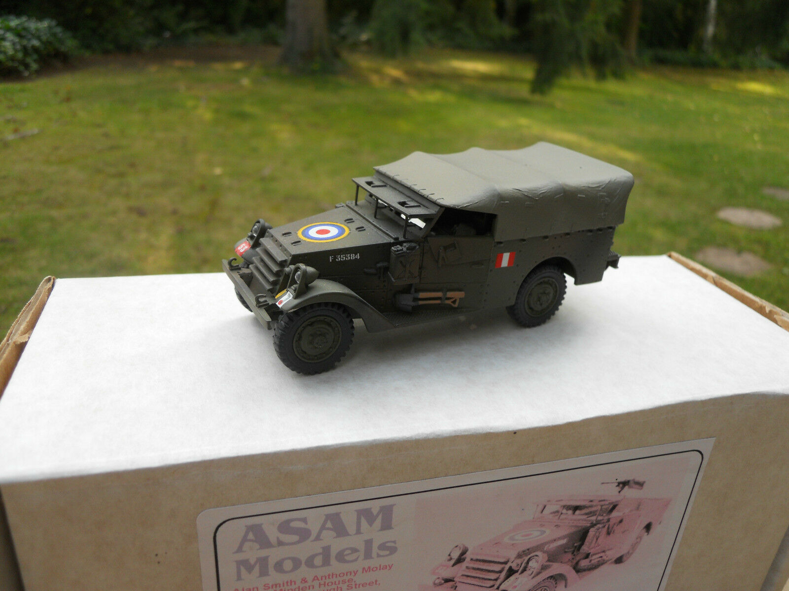 VEHICULE  MILITAIRE ASAM REF HT 234 M3A1 blanc SCOUT CAR POLISH ARMY MINT BOX