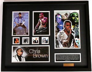 New Chris Brown Signed Limited Edition Memorabilia Framed ...