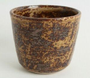 Mino ware Japanese Pottery Yunomi Chawan Tea Cup Iga Red Bronze Orange /& Ocher