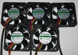 5-X-Sunon-50-mm-Ultra-Quiet-Cooling-Fans-12-V-10-CFM-22-dB-KDE1205PHV3