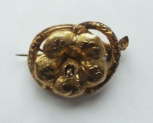 Antique-18ct-Gold-French-Flower-Victorian-Brooch