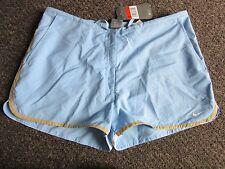 BNWT UK 14/16 Nike Shorts L Light Blue Gym Running Sports Pockets Casual