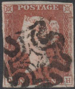 1841-SG8-1d-RED-BROWN-PLATE-17-FINE-USED-4-MARGINS-MALTESE-CROSS-OH