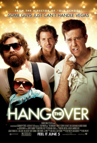 """The Hangover Movie Silk Fabric Poster 27/""""x40/"""""""