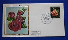 """Canada (896) 1981 Montreal Rose Colorano """"Silk"""" FDC"""