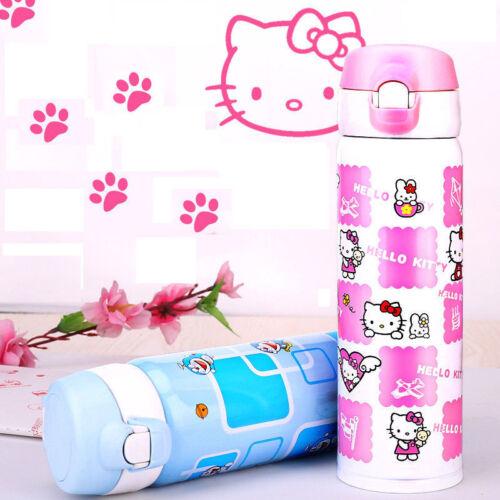 Hello Kitty en acier inoxydable Tasse Eau Thermos Fiole À Vide Thermique Bouteille Tasse US