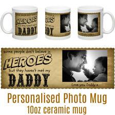 Hero Daddy Step Dad Grandad Personalised Photo Mug Christ Gift Idea Birthday