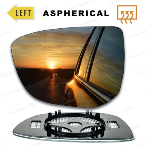 Left Passenger side mirror glass for Citroen C4 Cactus 2014-18 wide angle heated