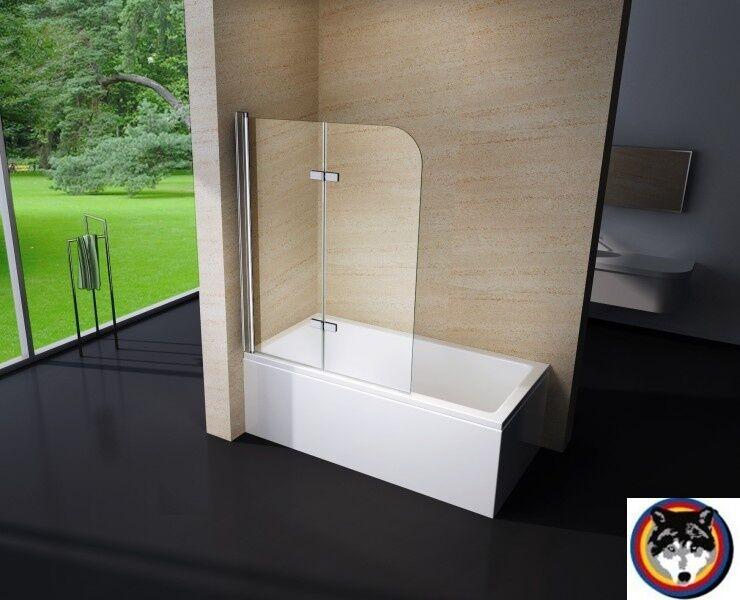 Sterling Clear II Duschabtrennung Duschwand Badewanne Nano Echtglas 6 mm