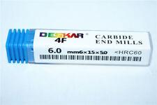 DESKAR High quality HRC50° 1P 4F 2.0mm4×6×50 Solid TiALN CNC Carbide end mill
