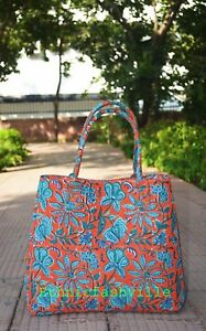 Indian-Mandala-Tote-Bag-Block-Printed-Handbag-Cotton-Women-Satchel-Purse-Lady-10