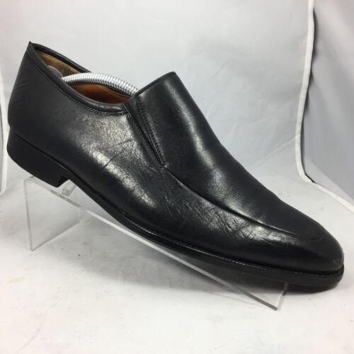 Shoe Medium Loafer Magnanni Black Men 10 Domiguez D Apron Toe 5 Leather trodChsQxB