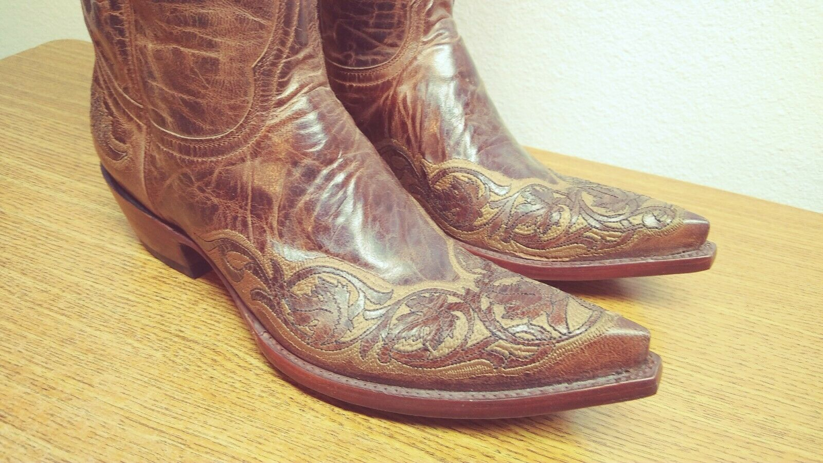 NEW Womens 7 B Old Gringo Brown Leather Embroidered Western Cowboy Boots
