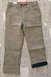 Men S Coleman Fleece Lined Carpenter Canvas Work Pants Tan Size 40 X 32 Stretch Ebay
