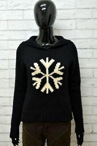 Cardigan-Donna-GAP-Taglia-XS-Felpa-Maglione-Pullover-Sweater-Woman-Lana-Nero
