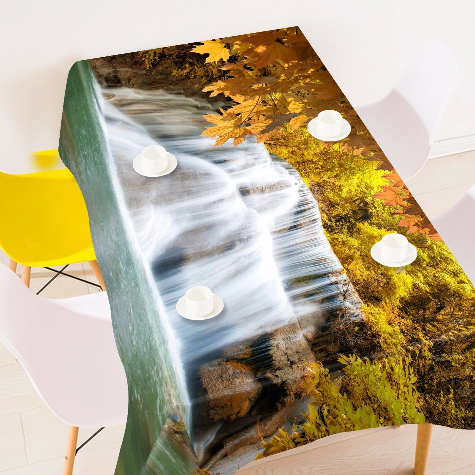 3D Waterfall 433 Tablecloth Table Cover Cloth Birthday Party Event AJ WALLPAPER