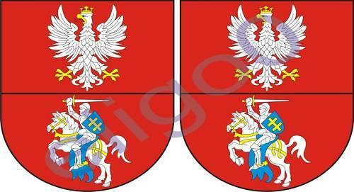 2x podlaskie POLAND coat of arms bumper stickers decals