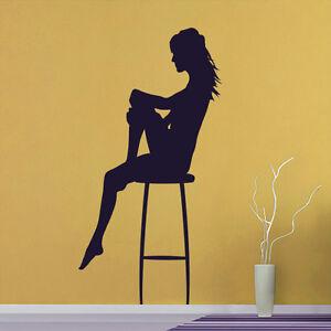 Wandtattoo-Sexy-Girl-Bar-Stripperin-Frau-Aufkleber-Wall-Art-Wand-Tattoo-2014