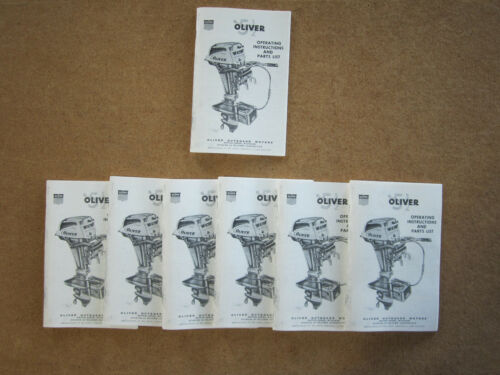 Vintage NOS Oliver Outboard 5.5 HP Operating Instructions & Parts ...