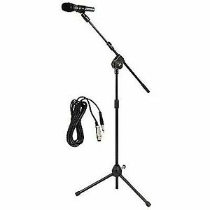Pyle PMKSM20 Microphone and Tripod Stand With Extending Boom & Mic Cable