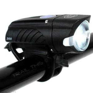 Niterider Swift 300 Lumens LED Bike Headlight Daylight Visible USB Rechargeable