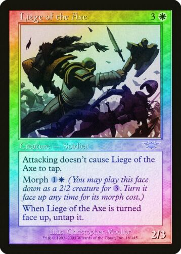 Liege of the Axe FOIL Legions NM White Uncommon MAGIC GATHERING CARD ABUGames