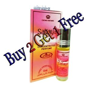 Details about Sabaya By Al Rehab concentrated arabian perfume oil 6ml (BUY 2 GET 1 FREE)