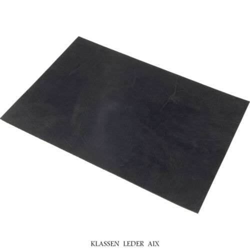 Rindsleder Schwarz Antik Design 2,8 mm Dick A4 Format Echt Leder 273