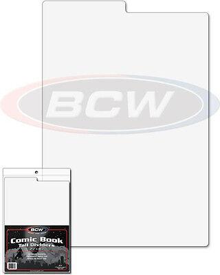 7 1//4 X 10 3//4 separators Pack of 25 BCW Tabbed White Comic Book Dividers