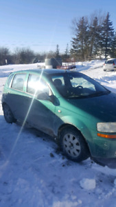 2005 chev aveo 200316 kms $1800 as is obo
