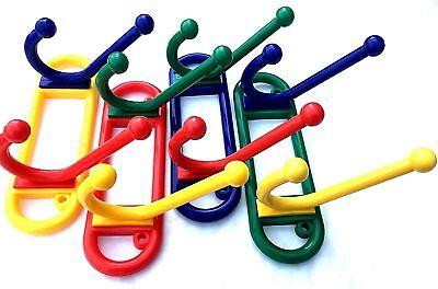 Hat And Coat Hooks Multi Coloured Double Funky Kids Door Hangers 580 Ebay