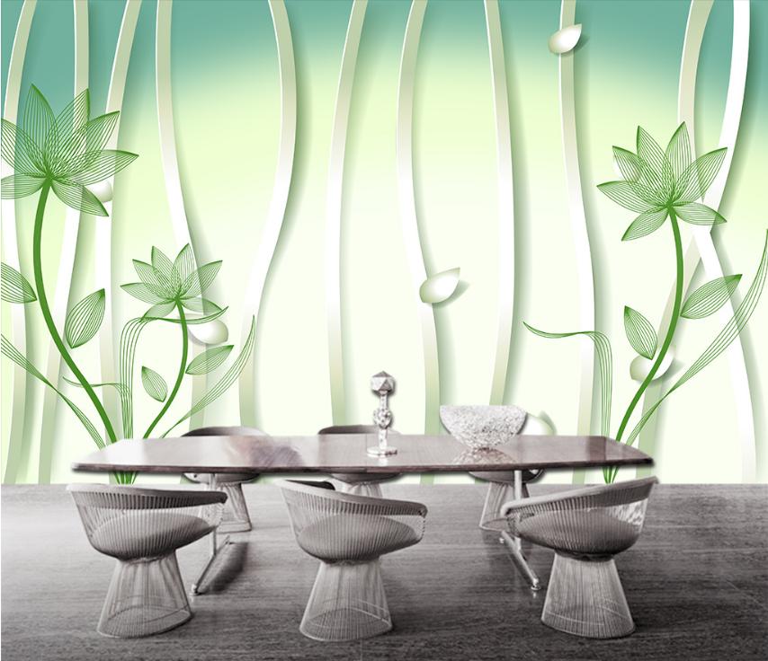 3D Charmant Grüner Lotus 87 Tapete Wandgemälde Tapete Tapeten Bild Familie DE