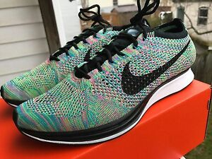 04c0a30de2664 Nike Flyknit Racer Trainer MULTICOLOR 2.0 Multi Color 526628-304 ...