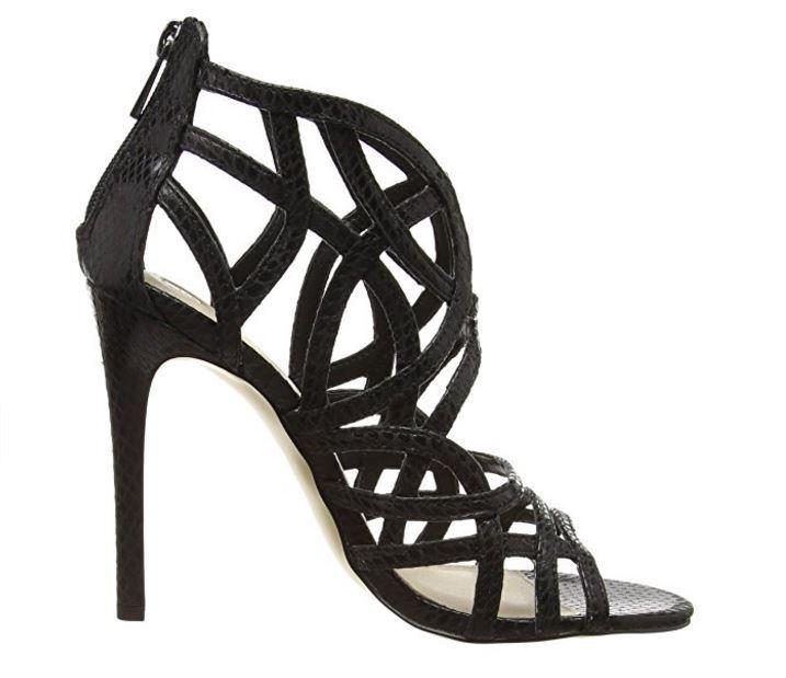 Sandali scarpe con tacco donna donna donna nr 41 fantasia ad incrocio nero Snake Leather | Produzione qualificata  | Uomini/Donna Scarpa  cbcfad