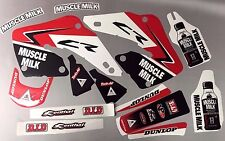 Factory Muscle Milk Honda Graphics CR125 1998-1999 & CR250 1997-1999