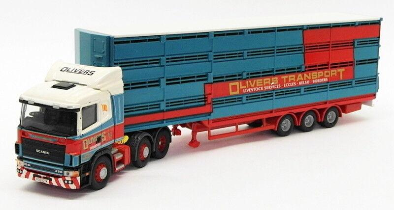 Corgi 1 50 escala CC12222-Scania Serie 4 transportador de de de ganado-Oliver 505571